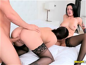 Katrina Jade and Karlee Grey in molten chesty 3 way
