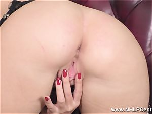 blondie unclothes off underwear and solos in nylons and heels