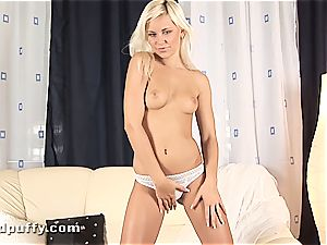 exquisite Dido Angel gropes her scarcely barely legal pussyhole