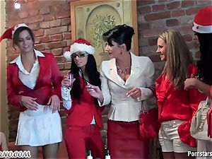 tipsy office doll girl/girl party with urinating