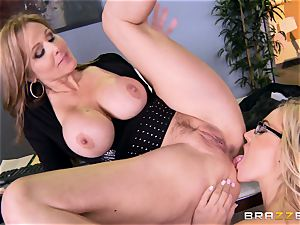 boss Julia ann boinks her splendid assistant Olivia Austin