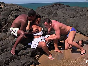 chinese fuckslut DP'd on some mexican beach