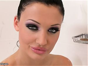 wetting humid Aletta Ocean senses so horny in her bathtub she can't wait to have fun sizzling