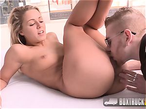 magnificent Christen Courtney face-fucked in public