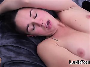 first-timer sapphic beauties get their open up fuckboxes licked and boned