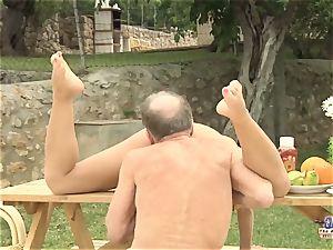 Tighty body youthful girl ravaged granddad and deepthroated boner