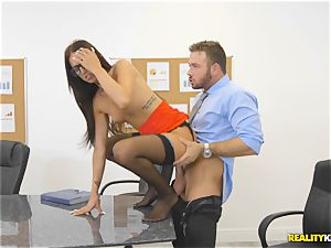 Office ravage with the secretary Aubrey Rose who happens to be the bosses daughter