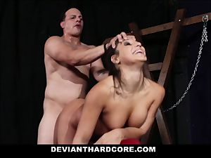 DeviantHardcore - hard-core nubile pummeled in dungeon space
