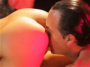 Asa Akira gets her super-hot lips chubby a big lengthy lollipop