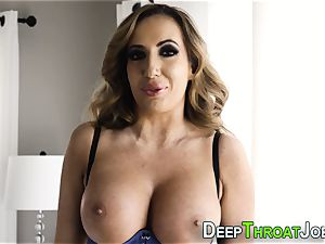 stunning milf With massive ass and milk cans enjoys to deep-throat