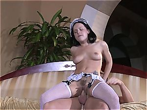 horny maid will do anything for the sir