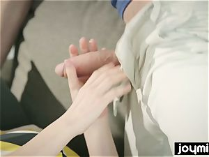 JOYMII super-naughty Cassie Fire entices classmate