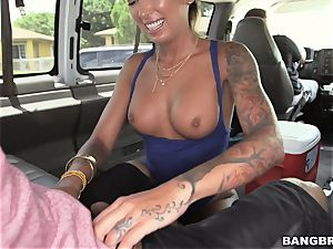 yam-sized booty Bella Bellz is on the BangBus
