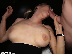 Gilf Diana takes 7 loads in this super-fucking-hot group sex
