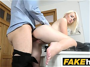 faux Agent super hot european blond beauty luvs doggy style