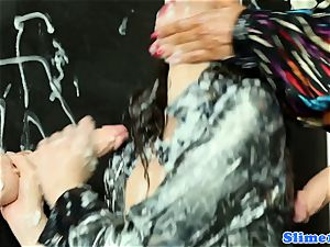 Samantha B showered in cum
