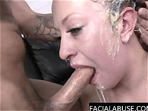 Dumb stripper mouth banged to puke