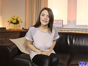 beautiful eurobabe blows old masculine at audition
