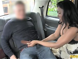 faux taxi ebony gets down and filthy