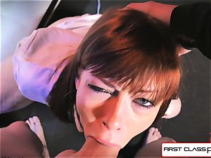 very first Class point of view - Alexa Nova throating a hefty sausage in point of view
