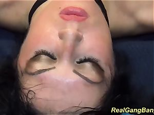 Ashley jizm in crazy gang-fuck orgy