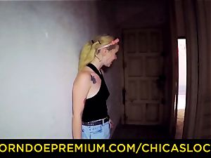 CHICAS LOCA - steamy Misha Cross nailed in deserted building