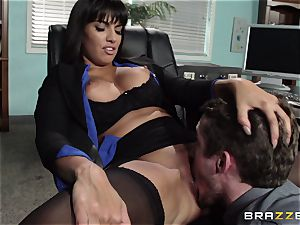 mexican secretary Mercedes Carrera seduced her fresh chief in the office