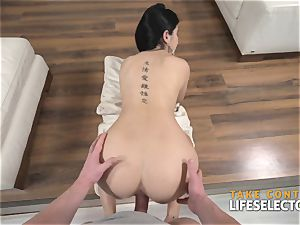 female Dee - dark haired honey smashed firm By enormous milky penis