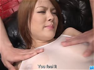 Subtitles - chinese hotty Rei gets cock in her ultra-cute