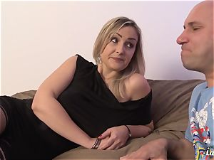 LA newcomer - torrid French first-timer milf nailed xxx
