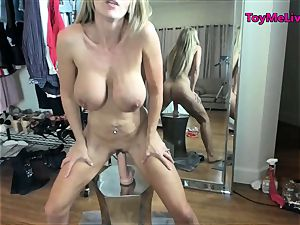 hot blond milf with ample boobies in changing room Live web cam
