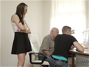 DADDY4K. dad and youthfull dame warm intercourse in bed culminates with creampie