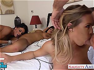 jaw-dropping nymphs Jessica Jaymes, Lisa Ann and Nicole Aniston