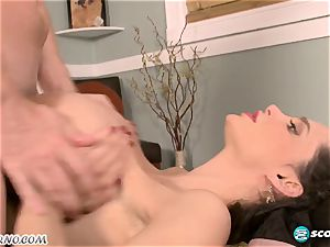 spunky pornographic star gets her ample boobies humped