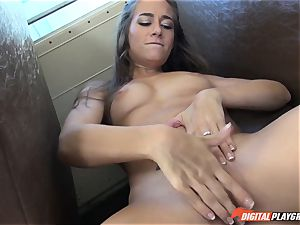 Cassidy Klein plays with big black cock in the schoolyard and the schoolbus