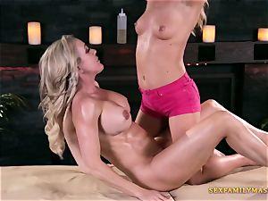 Carter Cruise and Brandi enjoy in girl/girl pornography