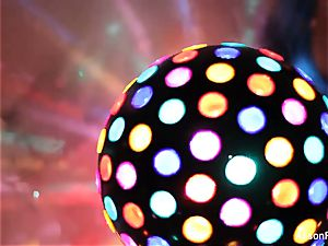 sumptuous large titted disco ball babe