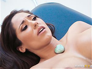 Reena Sky choking on the masseuses giant stiffy