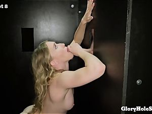 Riley Reynolds 1st gloryhole practice