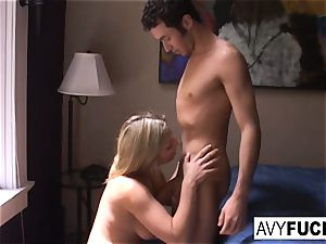 Gia Paloma and James Deen stop by Avy Scott's house