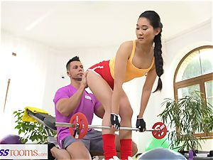 fitness apartments hard-core gym fuckin' and facial cumshot