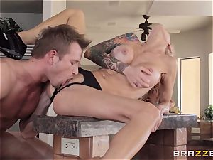 Sarah Jessie finishes her run with a strangers humungous manhood
