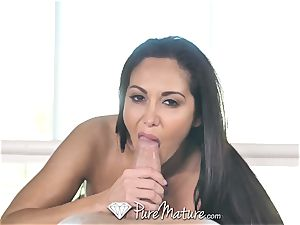 PureMature lubed up rubdown pound with milf Ava Addams