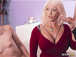 big-boobed mommy helps stepdaughter during porn casting