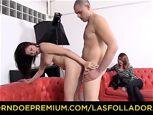 LAS FOLLADORAS japanese adult movie star Miyuki son-in-law nails first-timer