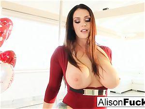 Alison Tyler celebrates Valentine's Day by wanking