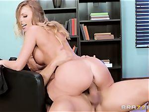 spunky slutty office mega-slut Britney Amber gets punished by her strict chief