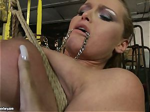 Kathia Nobili and Mandy Bright body cording with string