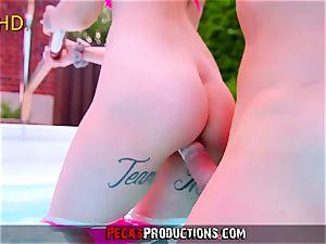 Pegas Productions - penetrating My Step-Sister teenage in Pool